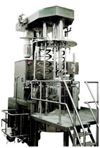 MH2000 Cream Making Machine for the pharmaceutical and cosmetic industries.