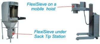Typical Applications for the Flexisieve