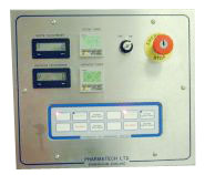 Flush mounted box with Membrane Button Panel controls. Flush mounted in wall for improved GMP